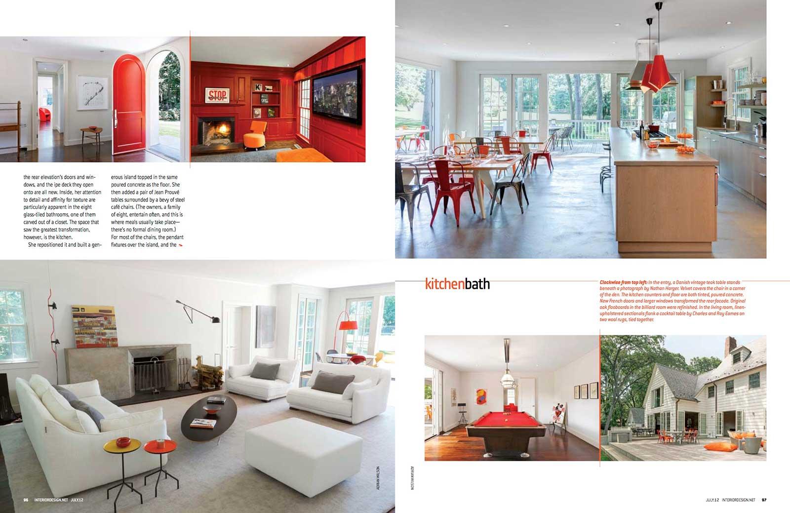 Interior Design Magazine High Summer Issue July 2012 Elizabeth